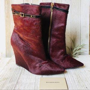 Burberry Prorsum • Calf Hair Wedge Boots